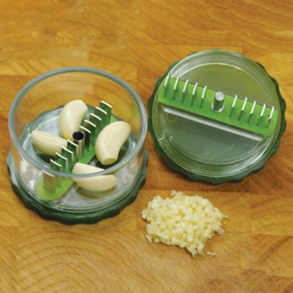 Aparat De Tocat Usturoi + Tub De Curatat Usturoi - Garlic Pro 0