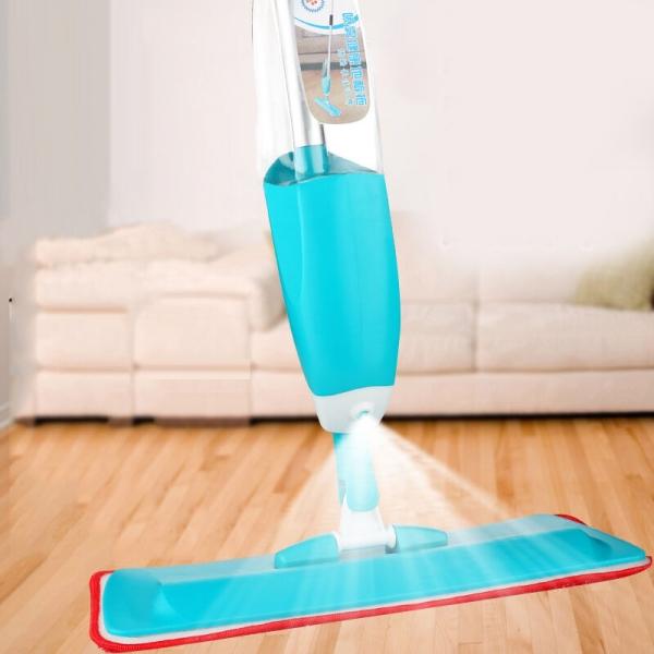 Mop Cu Pulverizator Spray Si Laveta Din Microfibra – 500 ML - Albastru 0
