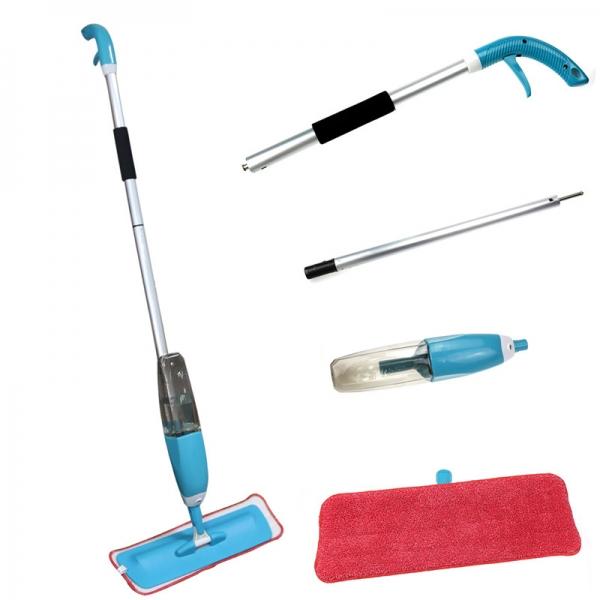 Mop Cu Pulverizator Spray Si Laveta Din Microfibra – 500 ML - Albastru 3