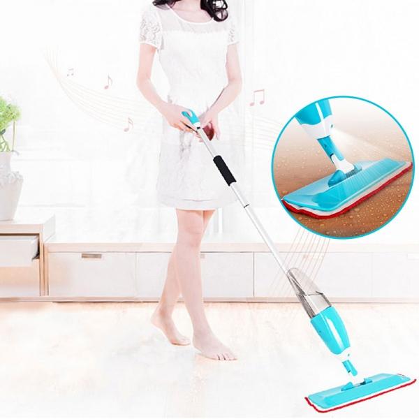 Mop Cu Pulverizator Spray Si Laveta Din Microfibra – 500 ML - Albastru 2