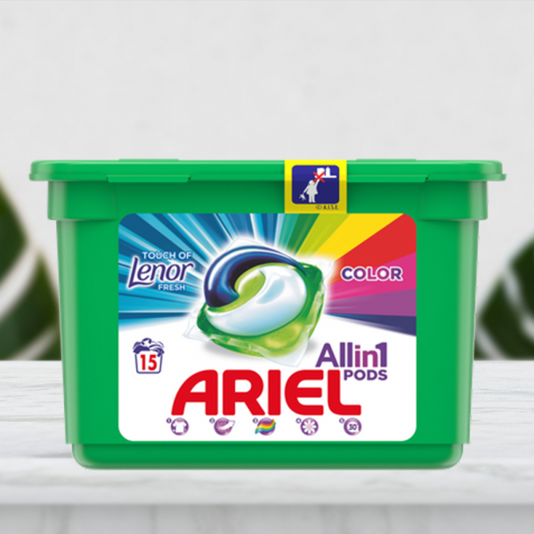 Detergent capsule Ariel All in One PODS Touch of Lenor, 15 spalari 0