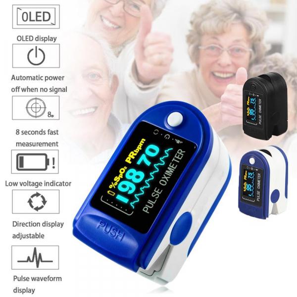 Dispozitiv de Masurat Saturatie Oxigen si Puls pentru Deget - Pulsoximetru / Oximetru 9