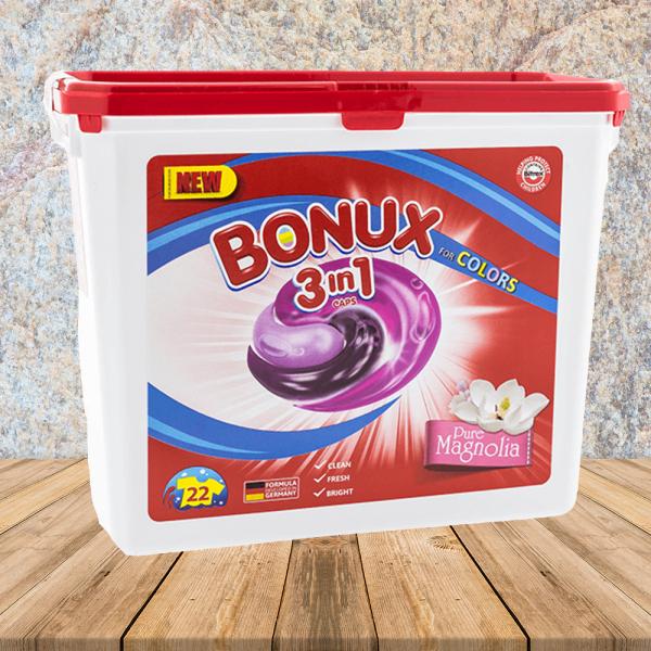 Bonux detergent capsule 22x24,6g MAGNOLIA COLOR - pentru haine colorate 0