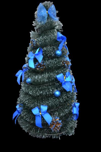 Brad artificial cu instalatie - Design Albastru 2