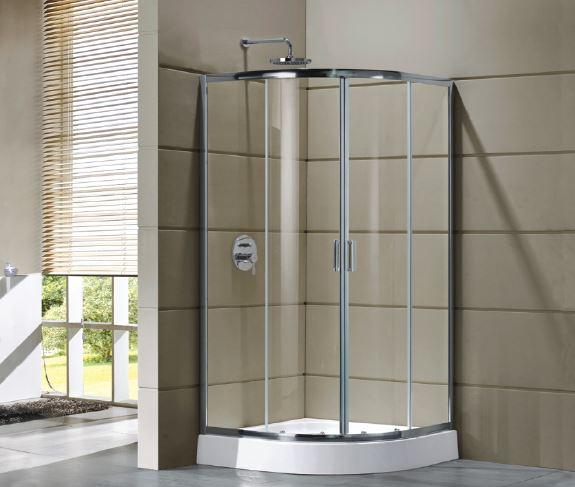 Cabină de duș Cleo semirotundă 80x80 0