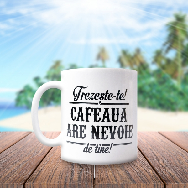 Cana Trezeste-te! Cafeaua Are Nevoie De Tine! 250 ML 1