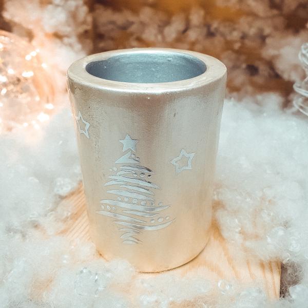 Candela realizata din ceramica – Design Brad – Cilindru 0