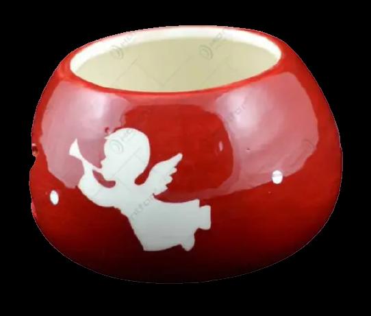 Candela rotunda realizata din ceramica – Design Ingeras [1]