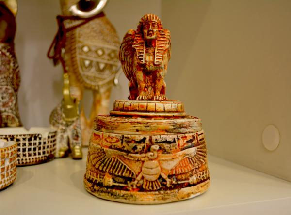 Caseta pentru bijuterii realizata din ceramica – Design Egiptean 0