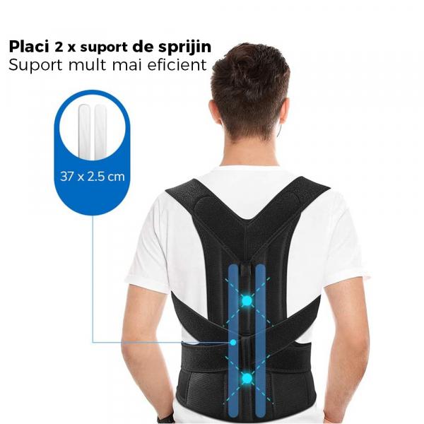 Corector de postură cu 2 x Bare Suport, ameliorează durerile de spate, îmbunătățește postura 6