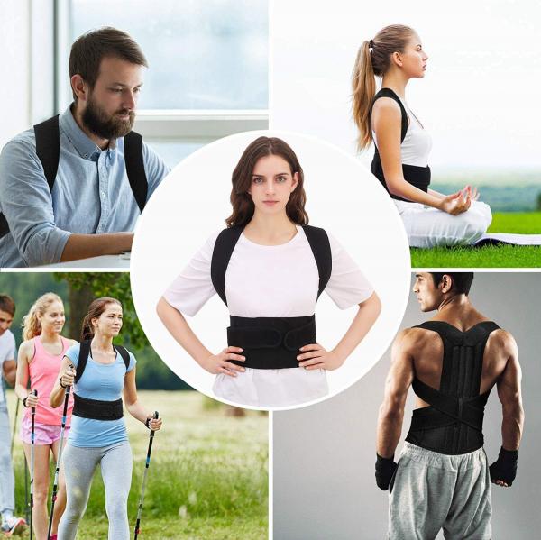 Corector de postură cu 2 x Bare Suport, ameliorează durerile de spate, îmbunătățește postura 1