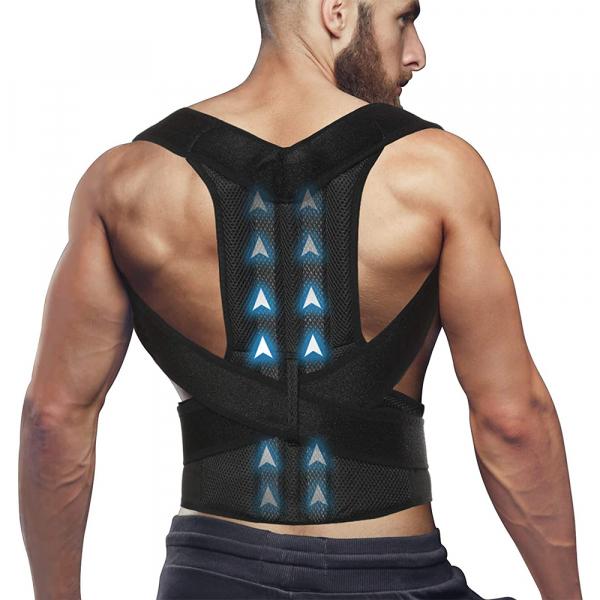 Corector de postură cu 2 x Bare Suport, ameliorează durerile de spate, îmbunătățește postura 2