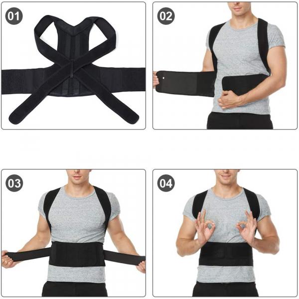 Corector de postură cu 2 x Bare Suport, ameliorează durerile de spate, îmbunătățește postura 4