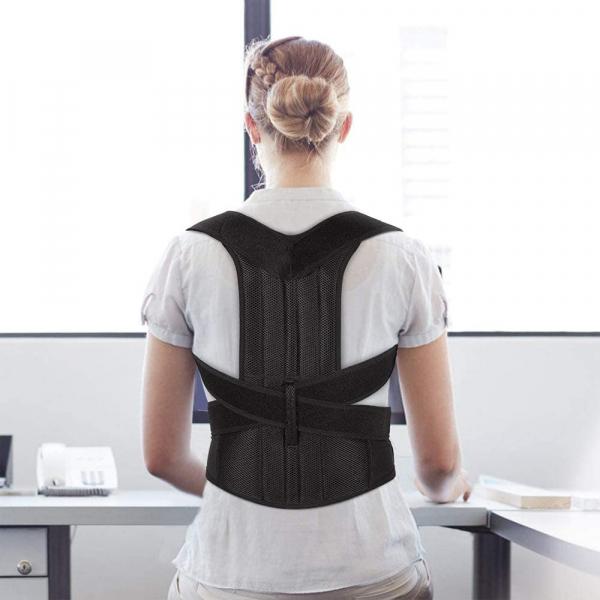 Corector de postură cu 2 x Bare Suport, ameliorează durerile de spate, îmbunătățește postura 3