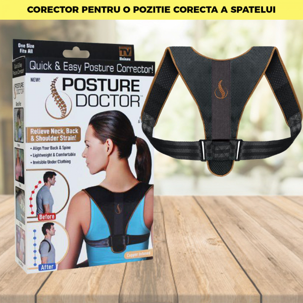 Corector postura spate, Ham Posture Doctor Indreptare coloana, marime Universala 10