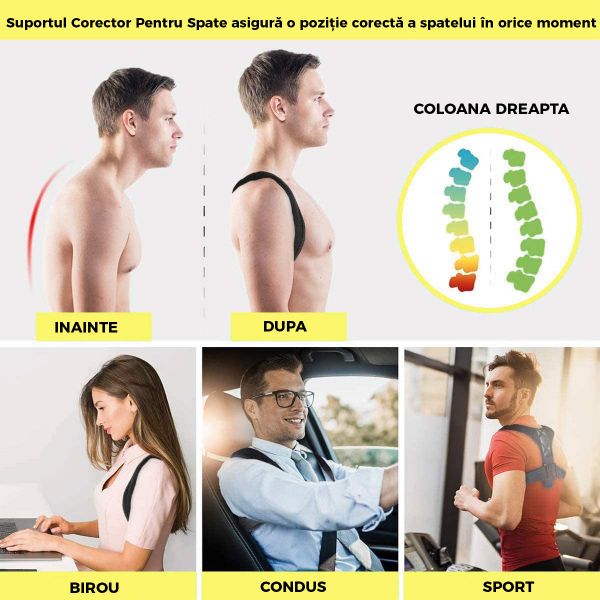 Corector postura spate, Ham Posture Doctor Indreptare coloana, marime Universala 4