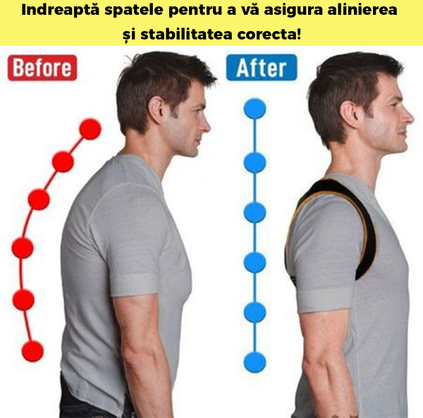 Corector postura spate, Ham Posture Doctor Indreptare coloana, marime Universala 6