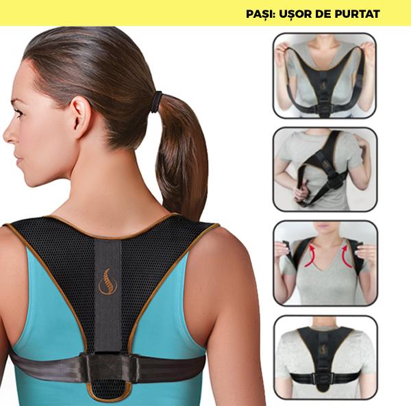 Corector postura spate, Ham Posture Doctor Indreptare coloana, marime Universala 7