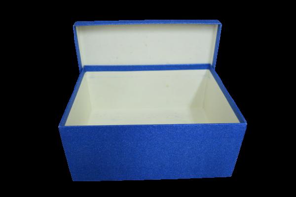 Cutie cadou cu sclipici - Albastru 1
