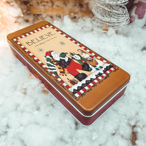 Cutie metalica pentru cadouri 24×10 CM – Design Craciun 0