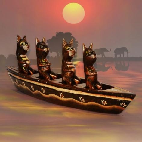 Decoratiune Africana - Pisica 0