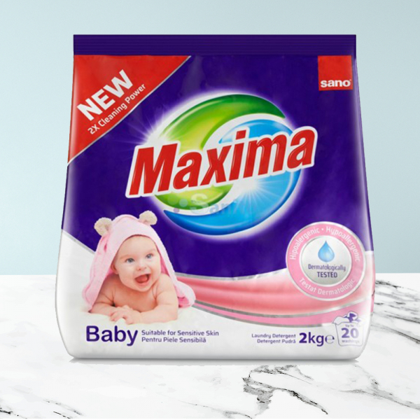 Detergent pudra Sano Maxima Baby (20sp) 2kg 0