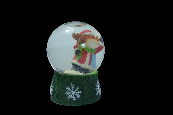 Glob de zapada pentru Craciun realizat din sticla – Design ren 1