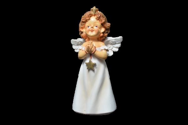 Figurina decorativa din rasina- Ingeras care se roaga 1