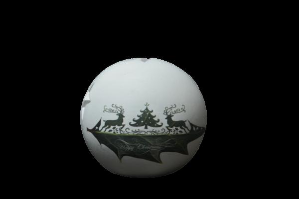 Candela in forma de glob realizata din ceramica – Design Craciun [0]