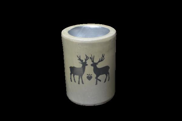 Candela realizata din ceramica – Design Ren – Cilindru 1