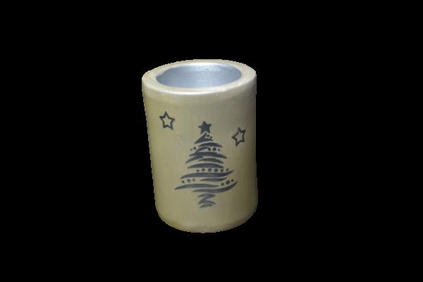 Candela realizata din ceramica – Design Brad – Cilindru 1