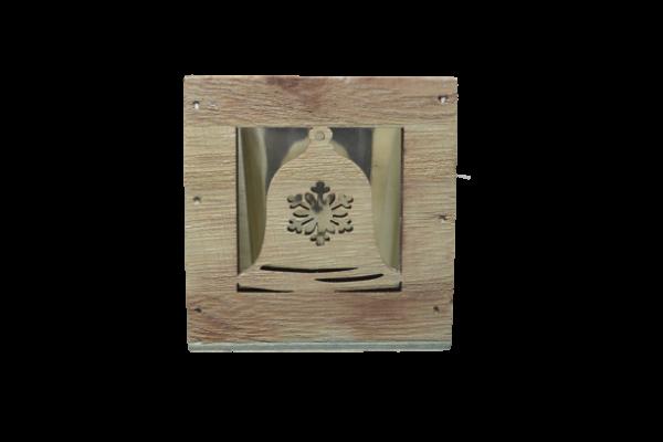 Candela realizata din lemn si din sticla 1