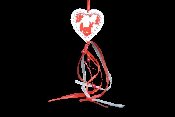 Decoratiune craciun inima cu agatator - 2 Modele 0
