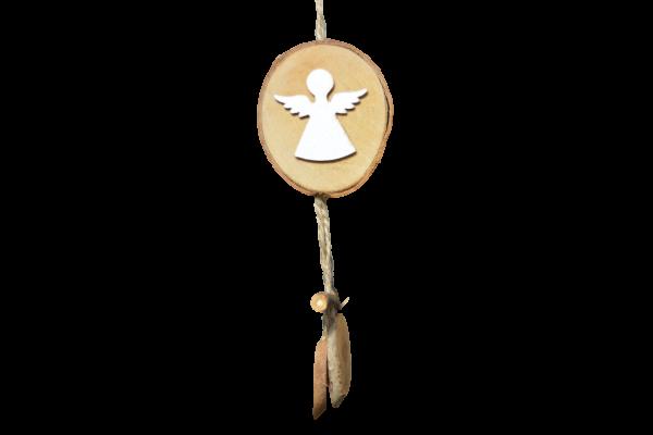 Decoratiune craciun din lemn cu agatator - Model inger 0