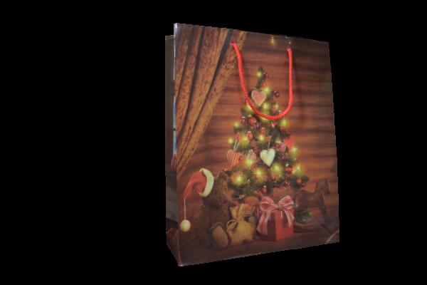 Punga pentru cadouri craciun – Design cu brad 0