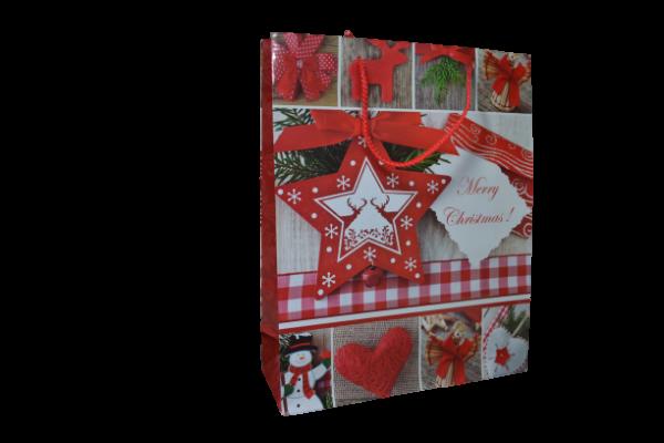 Punga cadou Craciun din hartie laminata 26×32 CM – Merry Christmas 0