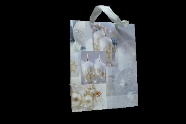 Punga pentru cadouri – Design cu lumanari si globuri [0]