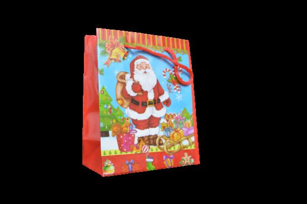 Punga de cadouri mica -Design mos craciun cu cadouri 0