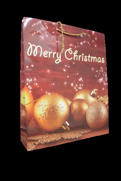 Punga pentru cadouri - Design globuri Merry Christmas 0