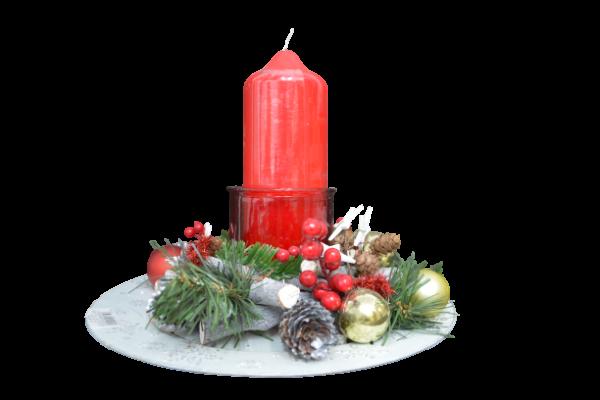 Decoratiune craciun pentru masa cu lumanare - Model 1 1