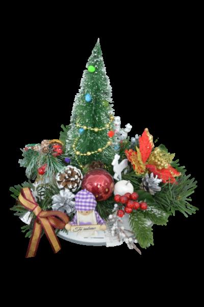 Decoratiune craciun pentru masa cu figurine - Model 2 2