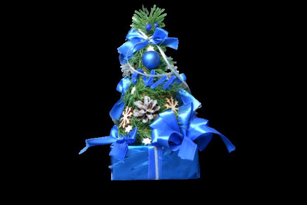 Decor masa de Craciun – Brad artificial - Design Albastru [1]