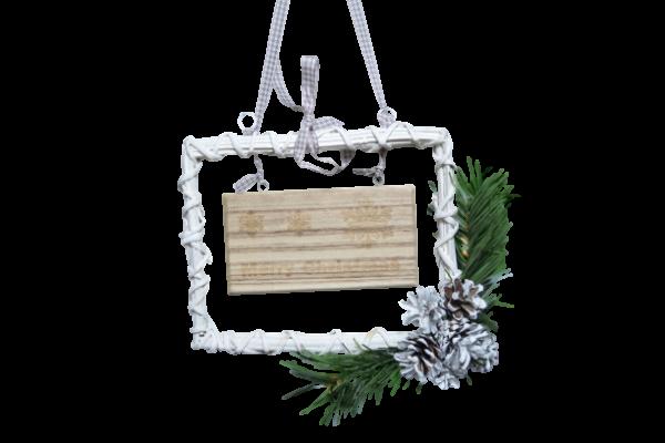 Decoratiune de craciun realizata din rachita - Merry Christmas 2