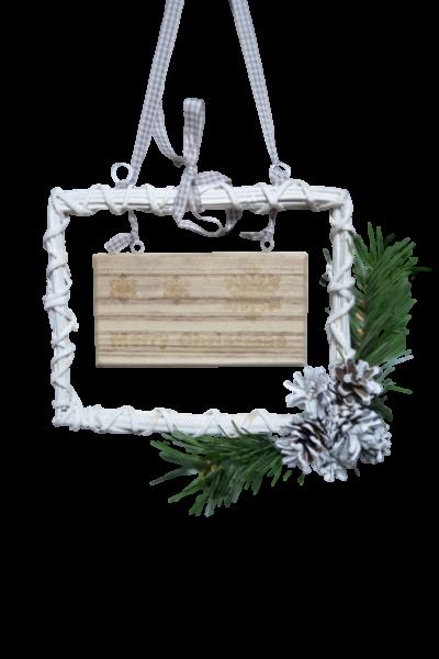 Decoratiune de craciun realizata din rachita - Merry Christmas 1