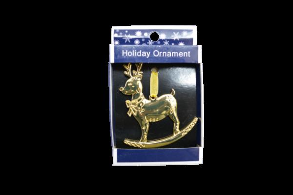 Figurina craciun din metal cu agatator - Design ren 0