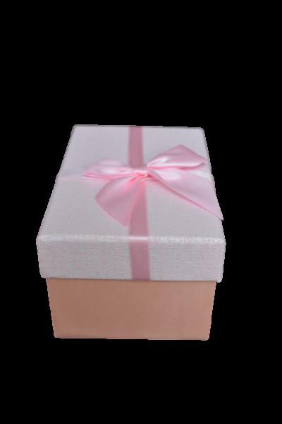 Cutie pentru cadouri roz cu fundita 0