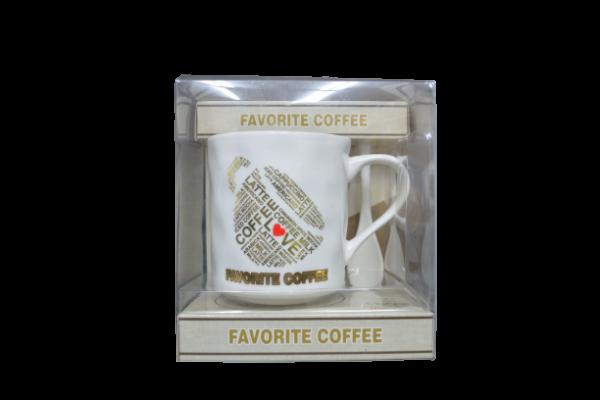 Set cana cafea + lingura in cutie 0
