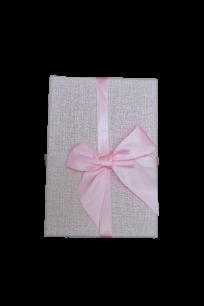 Cutie pentru cadouri roz cu fundita 1