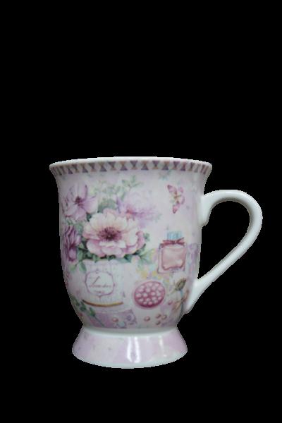 Cana din ceramica - Design cu flori 0