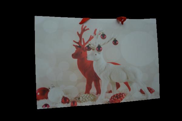 Punga pentru cadouri mare - Design cu reni 1